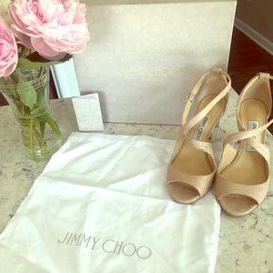 Jimmy Choo Emily 85 Crisscross Heel!